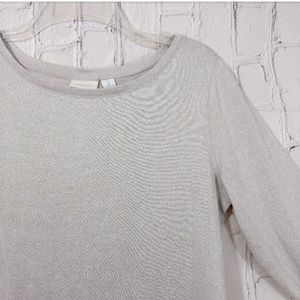 Chico's sliver shimmer long sleeve top